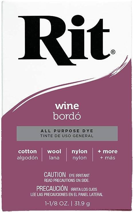 Rit - Tinte Multiusos en Polvo, Granate, 1 Pack
