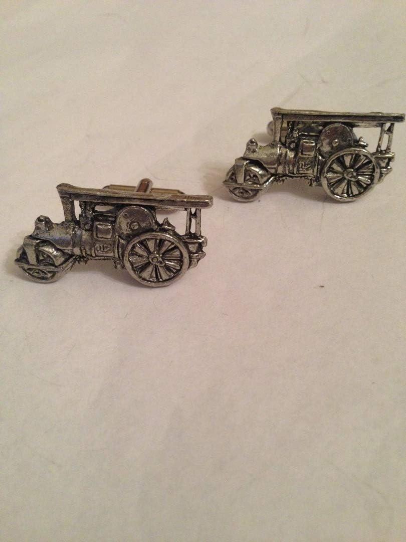 Steam Roller PP-T22 English Pewter Cufflinks
