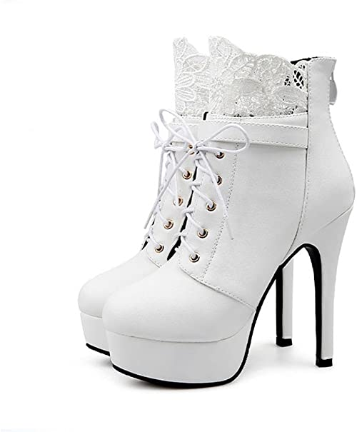 Amazon.it: scarpe stivale da sposa Bianco Stivali