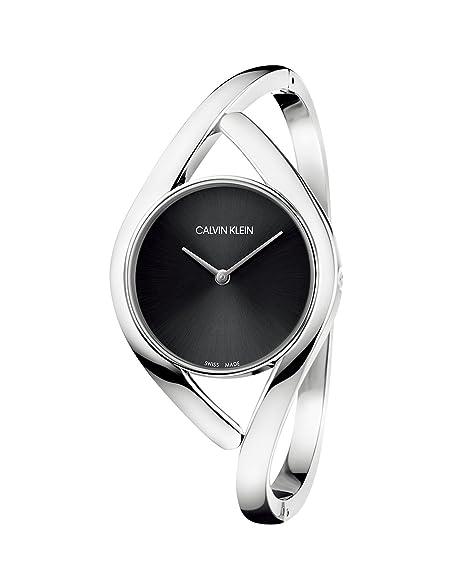 Calvin Klein Reloj Analógico para Mujer de Cuarzo con Correa en Acero Inoxidable K8U2S111: Amazon.es: Relojes
