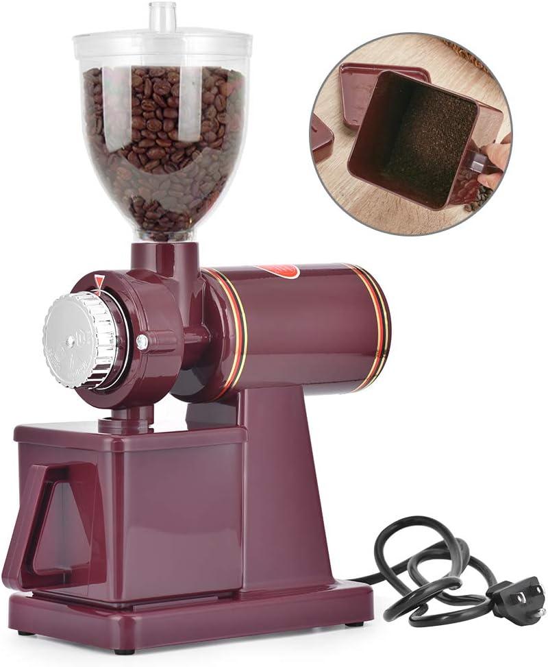 Giraffe-X Electric Burr Coffee Grinder Mill Grinder Coffee Bean Powder Grinding Machine,8 thickness adjustment Red