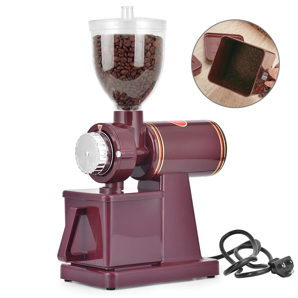 Giraffe-X Electric Burr Coffee Grinder Mill Grinder Coffee Bean Powder Grinding Machine,8 thickness adjustment (Red)