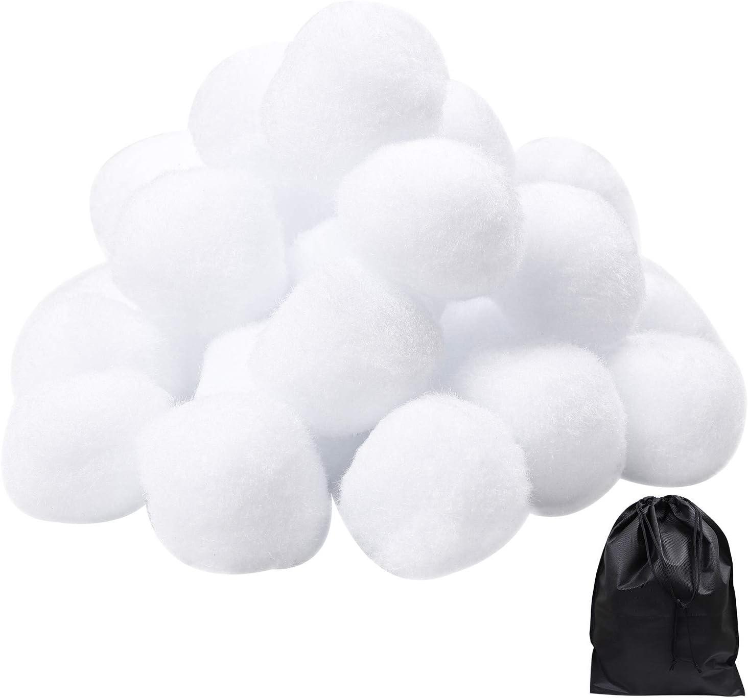Cooraby Lot de 20 boules de neige en int/érieur 5 cm
