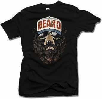 AM T-Shirts Bear'd Colorized Cool Beard T-Shirt Men's Tee (6.1oz)