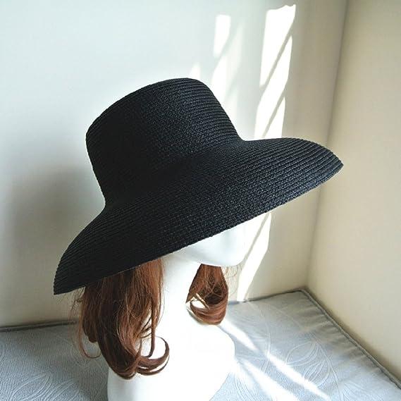 Sombrero De Sol Francés - Mujer De Verano Antiguo - Vacaciones Playa  Sombrero De Paja De Forma De Campana Negra Dalat 817f75f2a8d