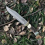 MOSSY OAK 14-inch Bowie Knife Stainless Steel Fixed Blade Full Tang Handle with Leather Sheath
