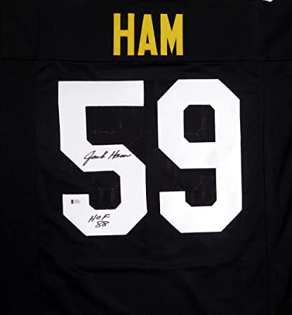 Pittsburgh Steelers Jack Ham Hand Signed Autographed Black Jersey  quot HOF  88 quot  - Beckett fc7f33905
