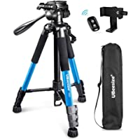 UBeesize 60-inch Camera Tripod, 5kg/11lb Load TR60 Load Portable Lightweight Aluminum Travel Tripod with Carry Bag…