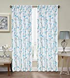 Regal Home Collections Misaki Window Panel 52-Inch x 84-Inch Blue