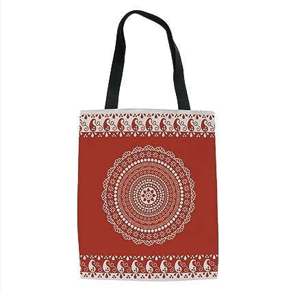 249ea220246b Amazon.com: IPrint Red Mandala,Traditional Ethnic Asian Paisley ...