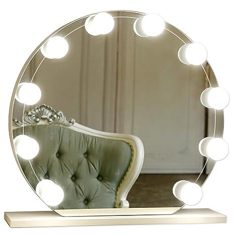 Super Guckmall LED Spiegellampe,10 LED Hollywood-Stil Make Up Spiegel MZ17
