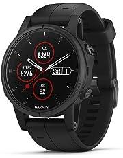 Garmin, Reloj Deportivo Fenix 5X Plux, Modelo 010-01989-00, Negro