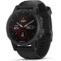Garmin fenix 5S Plus 42mm Sapphire Edition Multi-Sport Training GPS Watch with Heart Rate Monitoring (Black with Black Band)