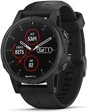 Garmin, Reloj Deportivo Fenix 5S Plus, Modelo 010-01987-02, Negro