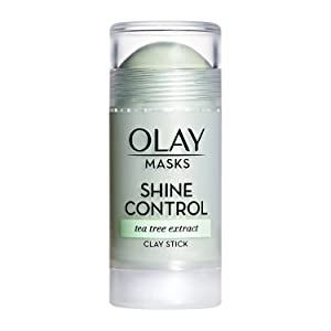 Face Masks by Olay, Shine Control with Tea Tree Extract, Facial Mask Stick, 1.7 O