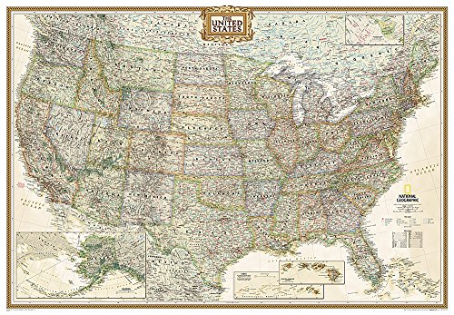 National Geographic: United States Executive Enlarged Wall Map (69.25 x 48 inches) (National Geographic Reference Map)