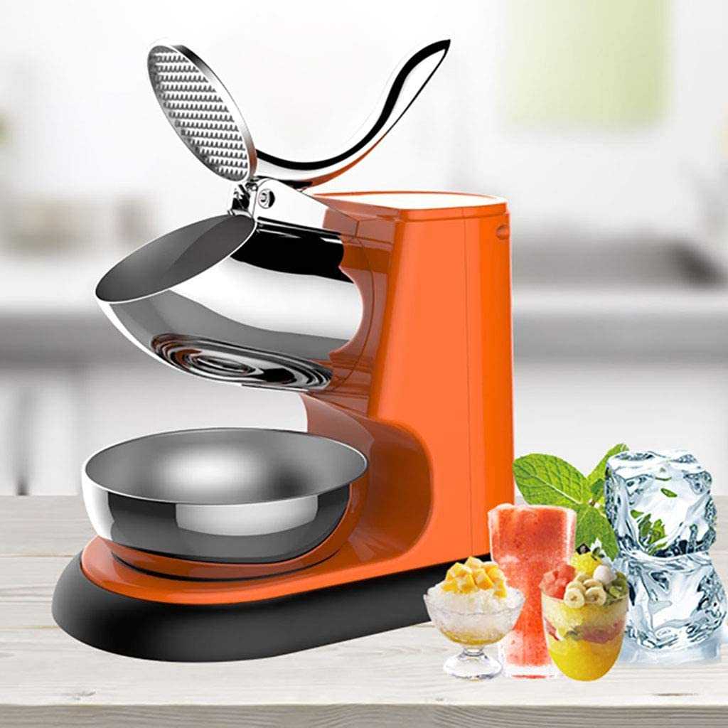 Electric Ice Shaver Machine, Snow Cone Maker, with Splash Proof Bezel and Micro Protection Switch, for Ice Cream, Cold Drinks, 95Kg/Hour Household & Commercial Use