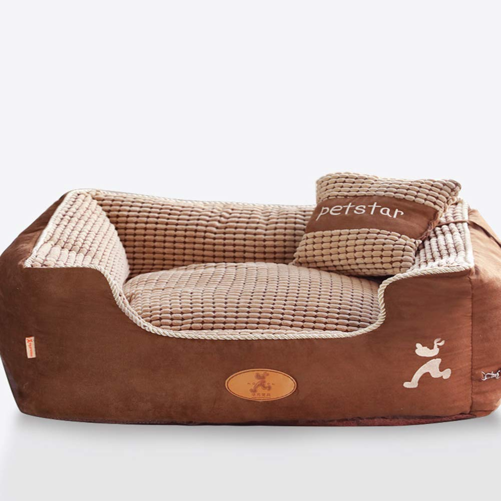 L XXRBB Dog bed,Memory Foam Waterproof liner premium zippers Breathable cotton blend removable & easy to clean,L