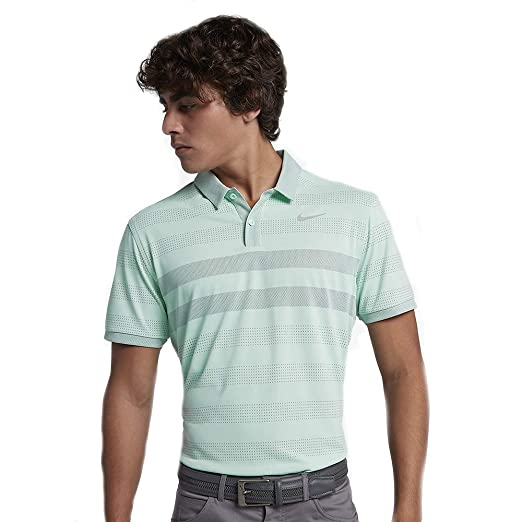 d1a0657d47 Amazon.com: Nike Men's Zonal Cooling Striped Golf Polo: Clothing