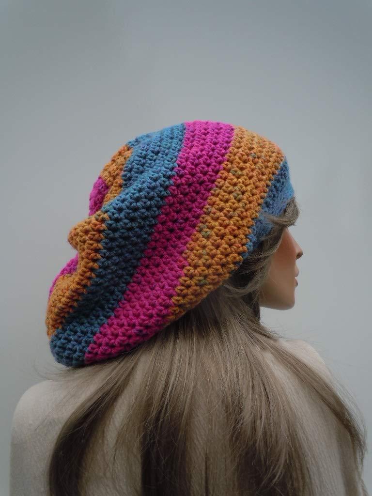 Multi Colors Cap Teal Mustard Fuchsia Tam Bag Hat Hippie Hat Rasta Hat SALE Dreadlock Tam Rasta Tam Cap Rasta Crown Oversize Slouchy