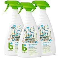 3-Pack Babyganics Multi Surface Cleaner, Fragrance Free, 32oz Spray Bottle