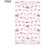 Miswilsi Beauty Adhesive Colorful Manicure Decor Flamingo Nail Stickers Water Transfer Decal