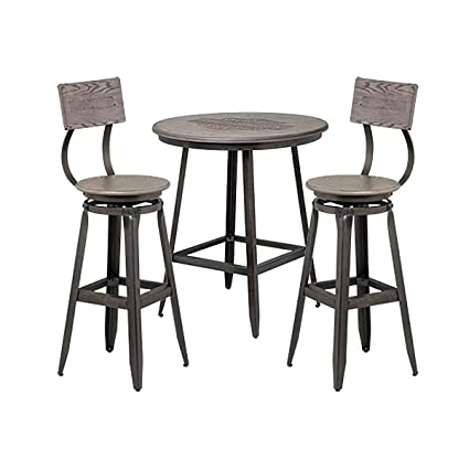 Pleasant Amazon Com Harley Davidson Wood Cafe Table And Backrest Bar Caraccident5 Cool Chair Designs And Ideas Caraccident5Info