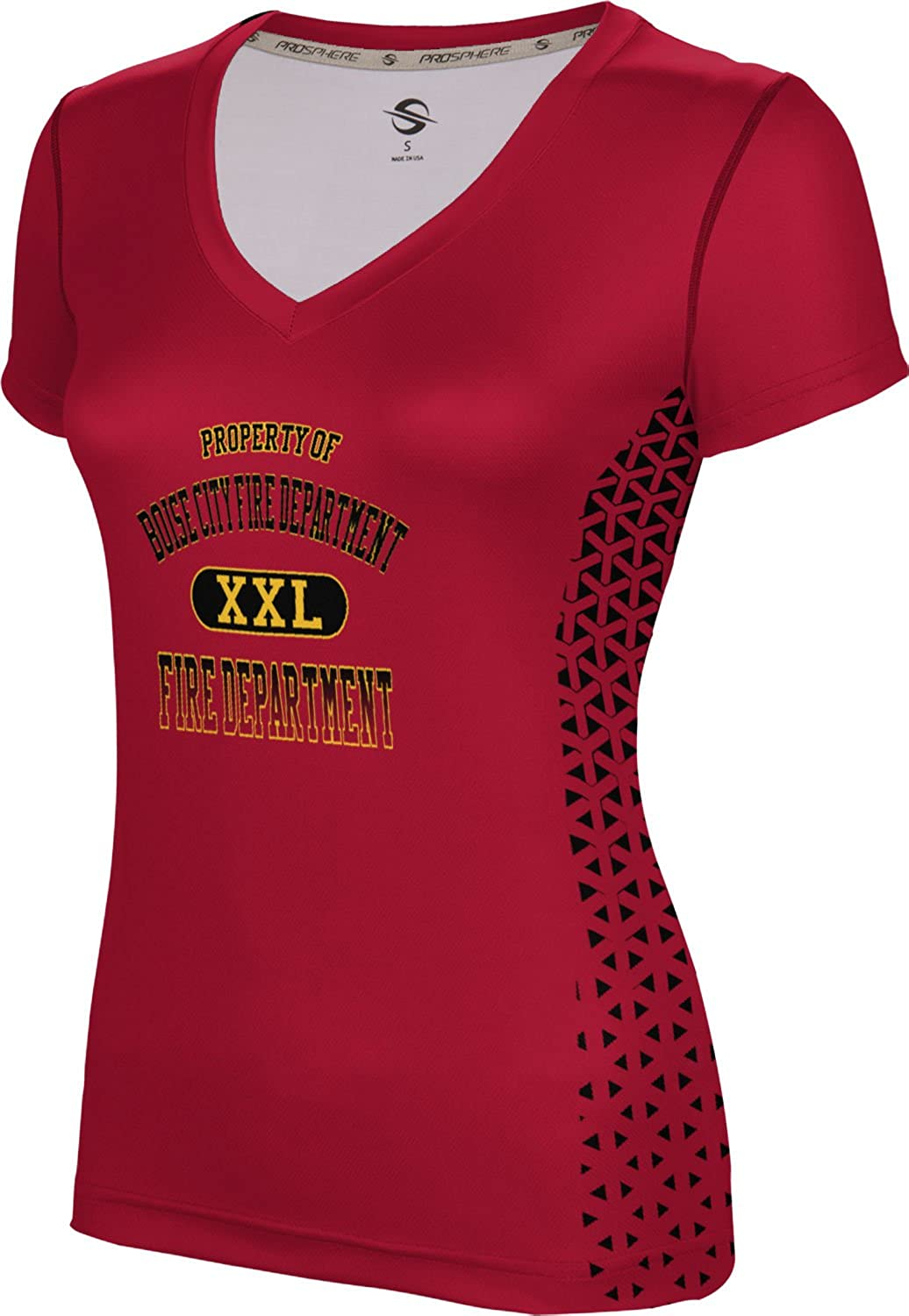 ProSphere Women's Boise City Fire Department Geometric SL V-Neck Training Tee