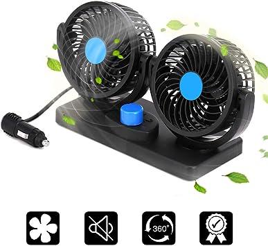 Leah Daly - Ventilador de Coche eléctrico de 12 V, 2 velocidades ...