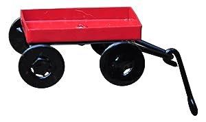 G & F MiniGardenn 10023 Fairy Garden Miniature Little Wagon, Red