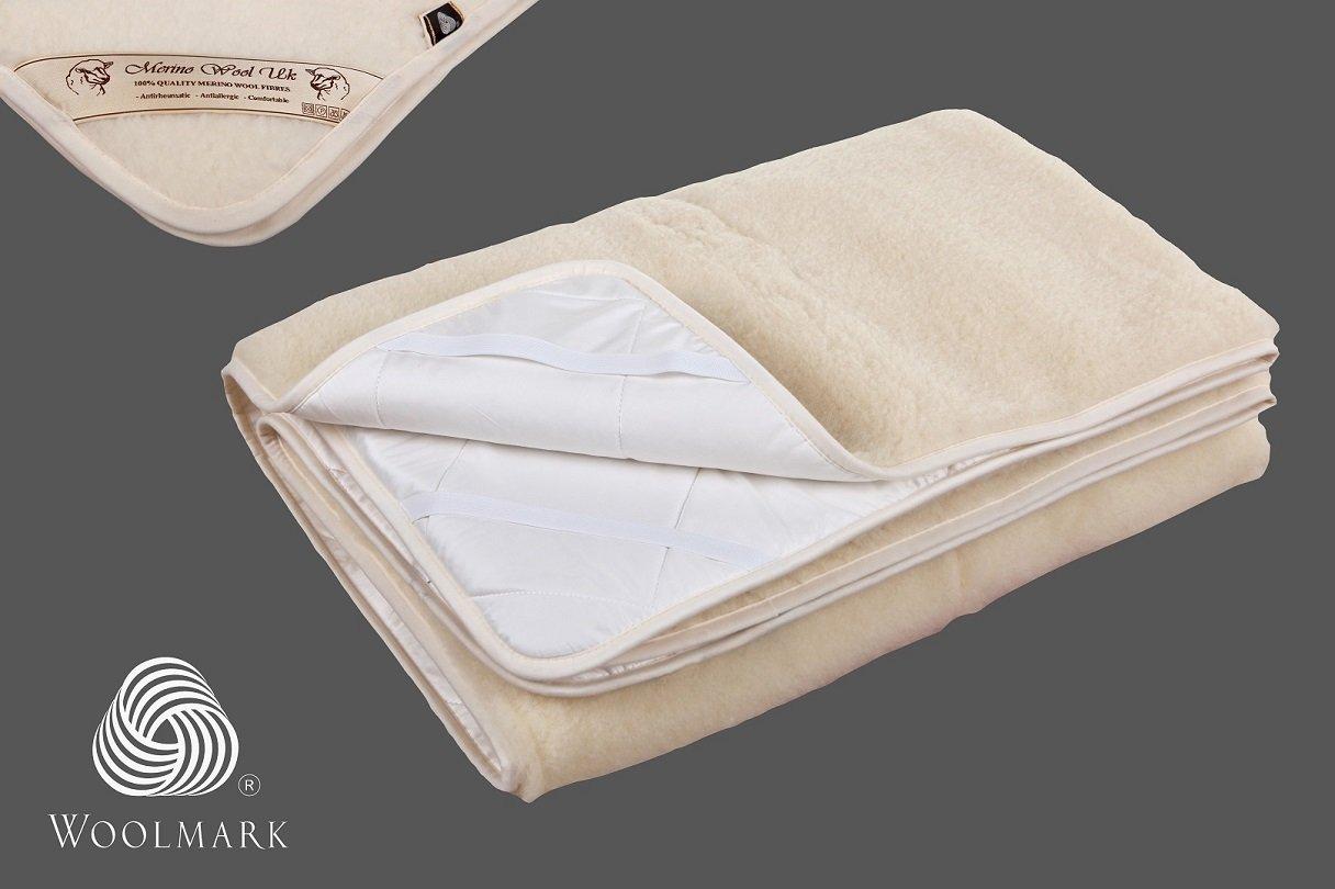 Manta/Sábana 140 x 190 de Lana Merina Básica 140 x 190 cm Certificada por Woolmark. Muy Suave y Confortable.Colchón Eliocel Lana Merino: Amazon.es: Hogar