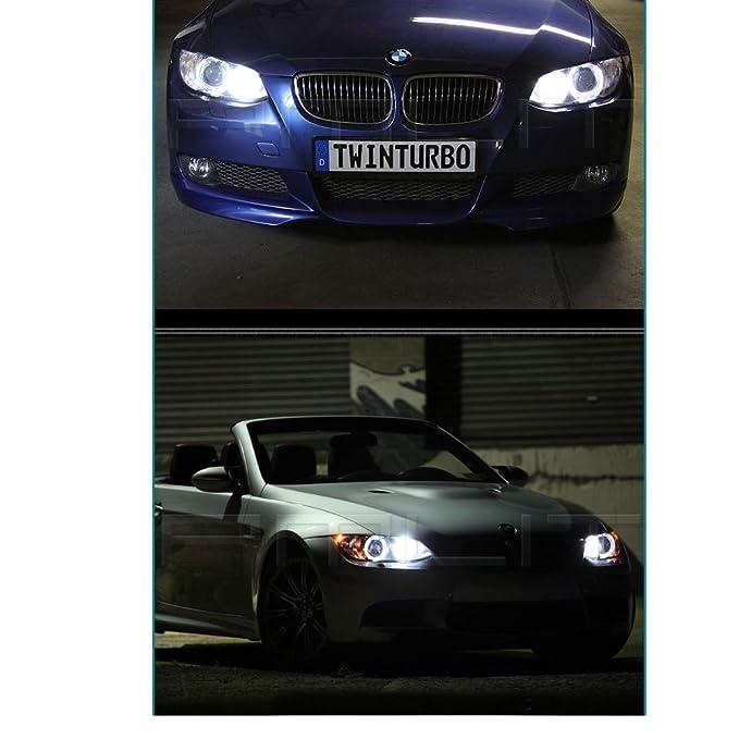 Eaglerich 2XE39 10w Angel eyes marcador LED para BMW E39 E64 plata E60 E66 E83 E87: Amazon.es: Coche y moto