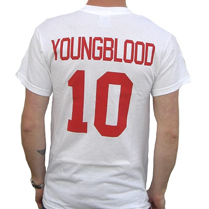 Dean Youngblood 10 Mustangs Jersey T-Shirt Young Blood Rob Lowe 80s ... 762a107439