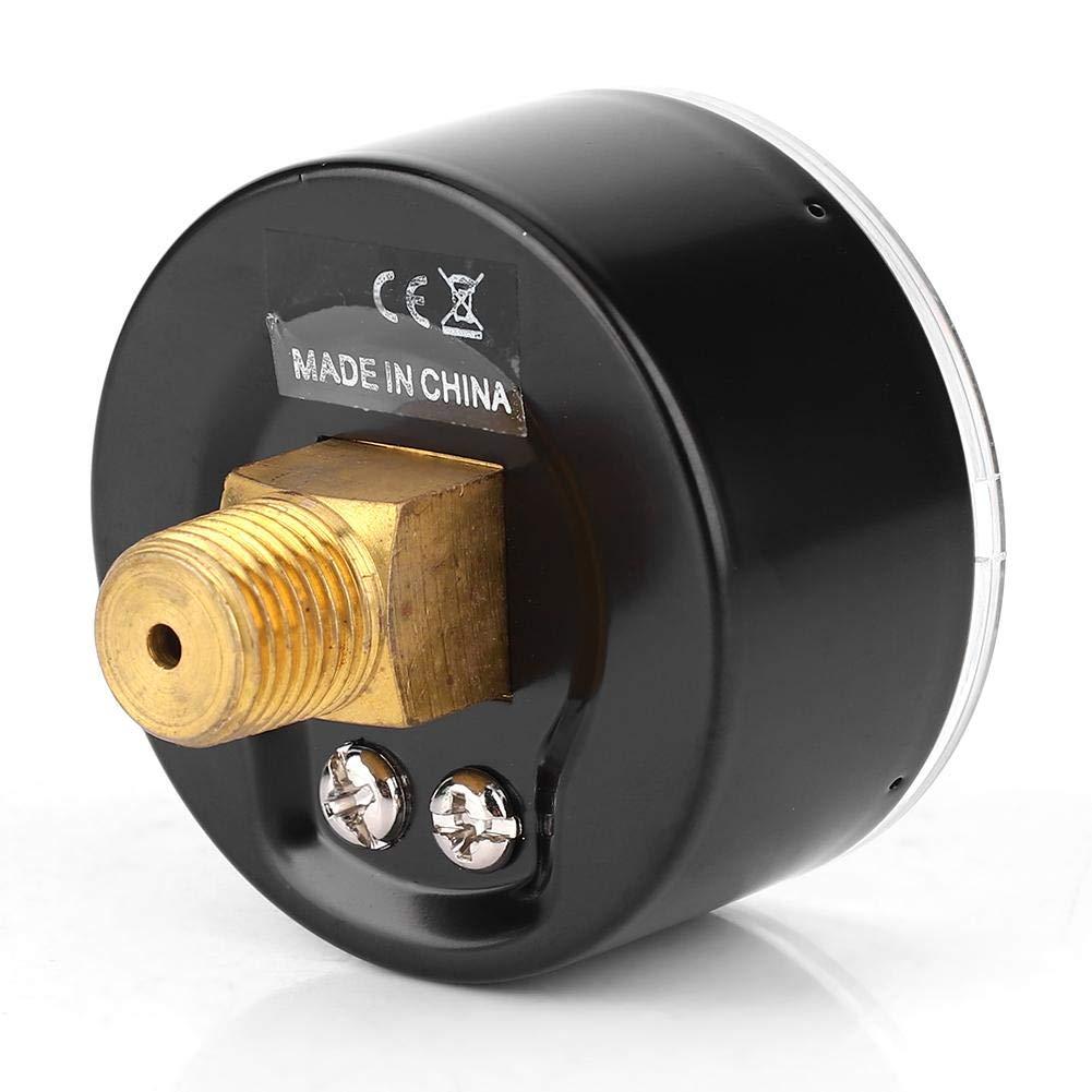 Water Pressure Gauge 0-60psi 0-4bar Oil and Gas 50mm Dial 1//4 BSPT Axial Pressure Gauge for Air