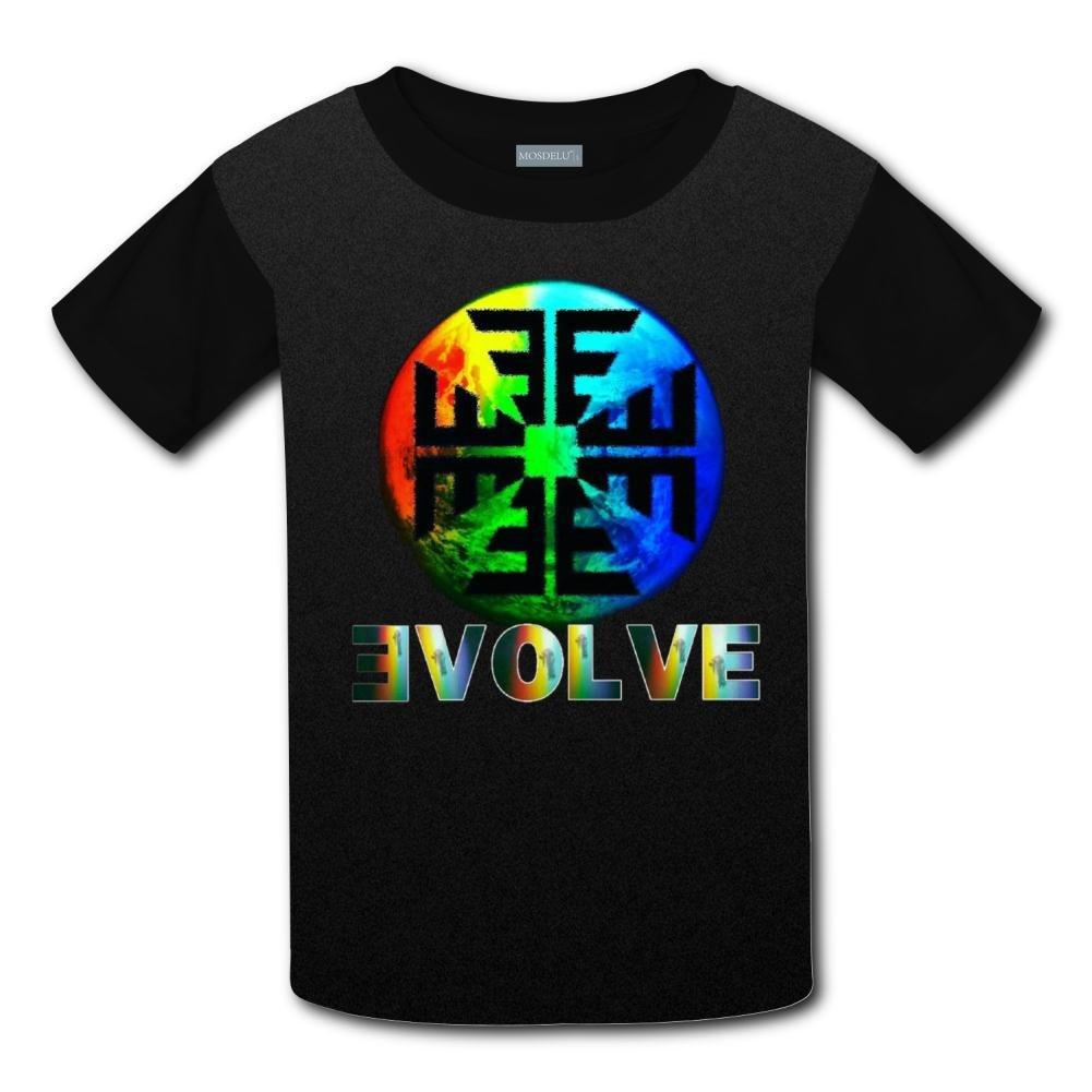 GEFEI Unisex Kids Imagine Dragons Evolve Round Collar Short Sleeve T Shirt