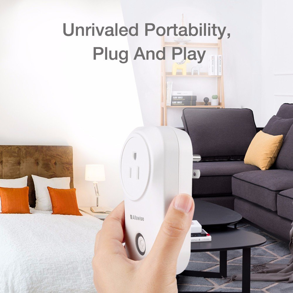 Smart Plug, Alfawise Smart Wi-Fi Plug Wireless Outlet, Smart Timing Socket Compatible with Alexa, Timing Function, Remote Control Appliances from Anywhere by Alfawise (Image #2)