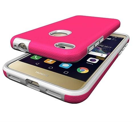 EDTUOSI Ultra Slim Fundas P8 Lite 2017 Smart Case Funda Huawei P8 Lite 2017 Negro