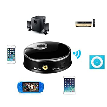 Steellwingsf Transmisor de audio inalámbrico (fibra óptica, Bluetooth 4.0, coaxial, 3,