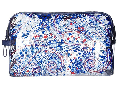 Vera Bradley Women's Clear Beach Cosmetic Fireworks Paisley One -