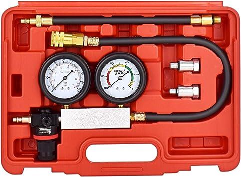 Cylinder Tester Detector Engine Compression Leak-down Test Gauges Set