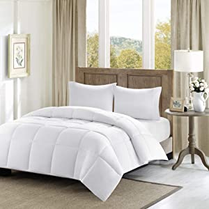 Madison Park Winfield 300 Thread Count Luxury Down Alternative Comforter, King/California King, White