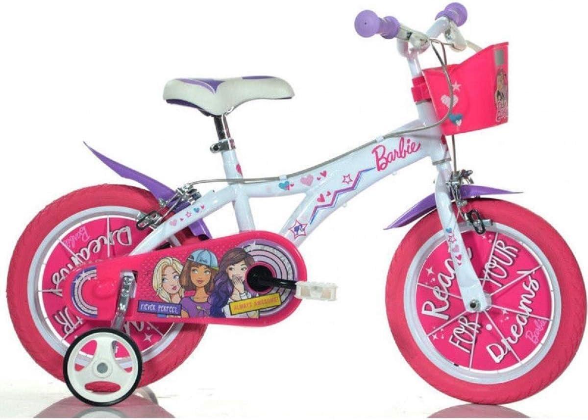 Dino Bikes 146R-BA Niñas Metal Rosa, Color Blanco bicicletta ...