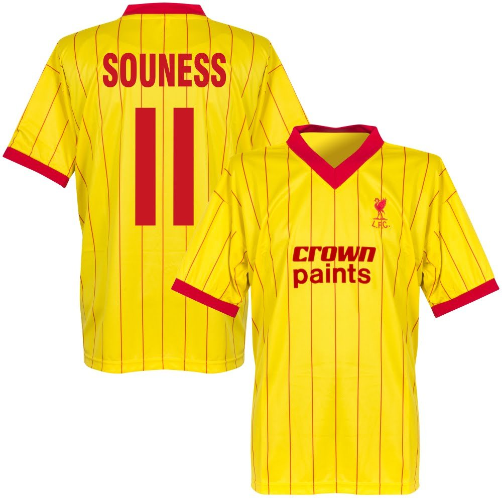 Lizensierter Clubartikel 1982 Liverpool Away Retro Trikot + Souness 11