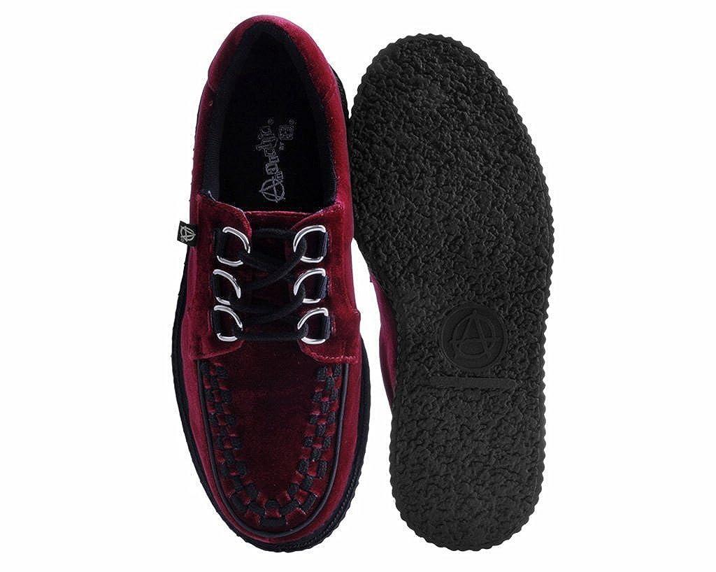 Terciopelo Burdeos 3 3 3 Anillo Anárquica La Enredadera T.U.K. Zapatos Mujer De T.U.K. Zapatos 1194e4