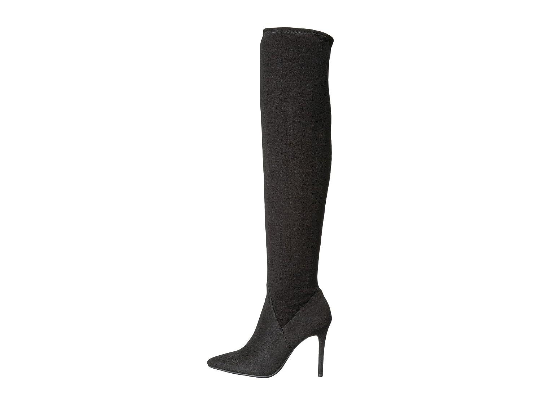 Jessica Simpson Women's Loring Fashion Boot B071LPFJMS 6.5 B(M) US|Black Stretch Microsuede