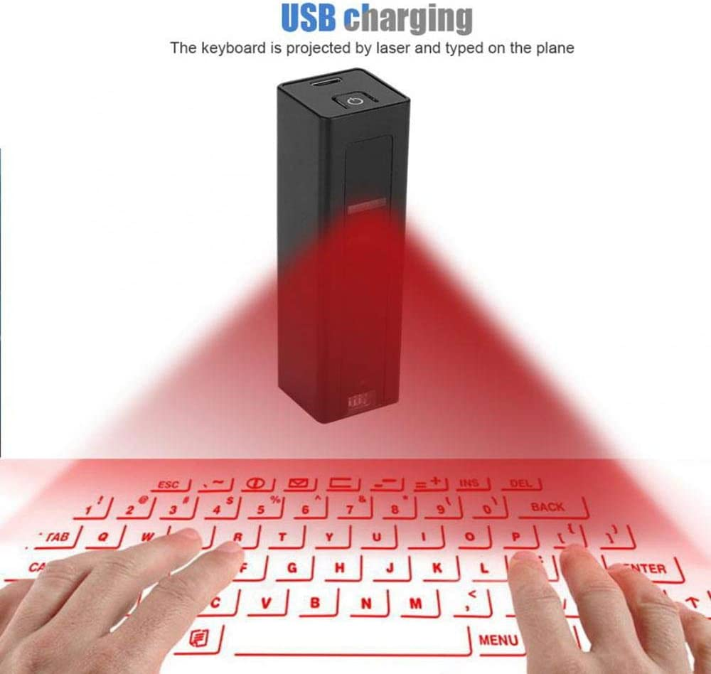 Wireless Keyboard Virtual Keyboard Projection Keyboard Laser Keyboard Convenient to Carry Out Travel Equipment Black