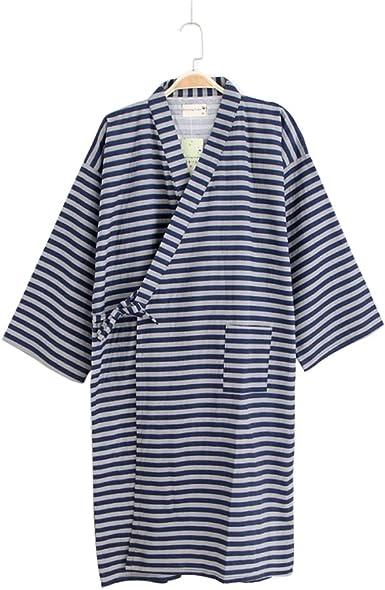 Hombres Yukata Robes Kimono Robe Khan Pijamas de Traje de ...