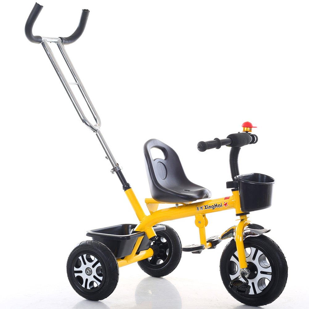 yxgh-軽量子供の三輪車1 – 3-6 Years Old Baby Carriage Boys and Girls Bicycles Baby Stroller withパター B07DK7L4KV イエロー イエロー