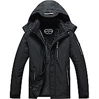 SUOKENI Men's Waterproof Warm Winter Snow Coat Hooded Raincoat Ski Snowboarding Jacket