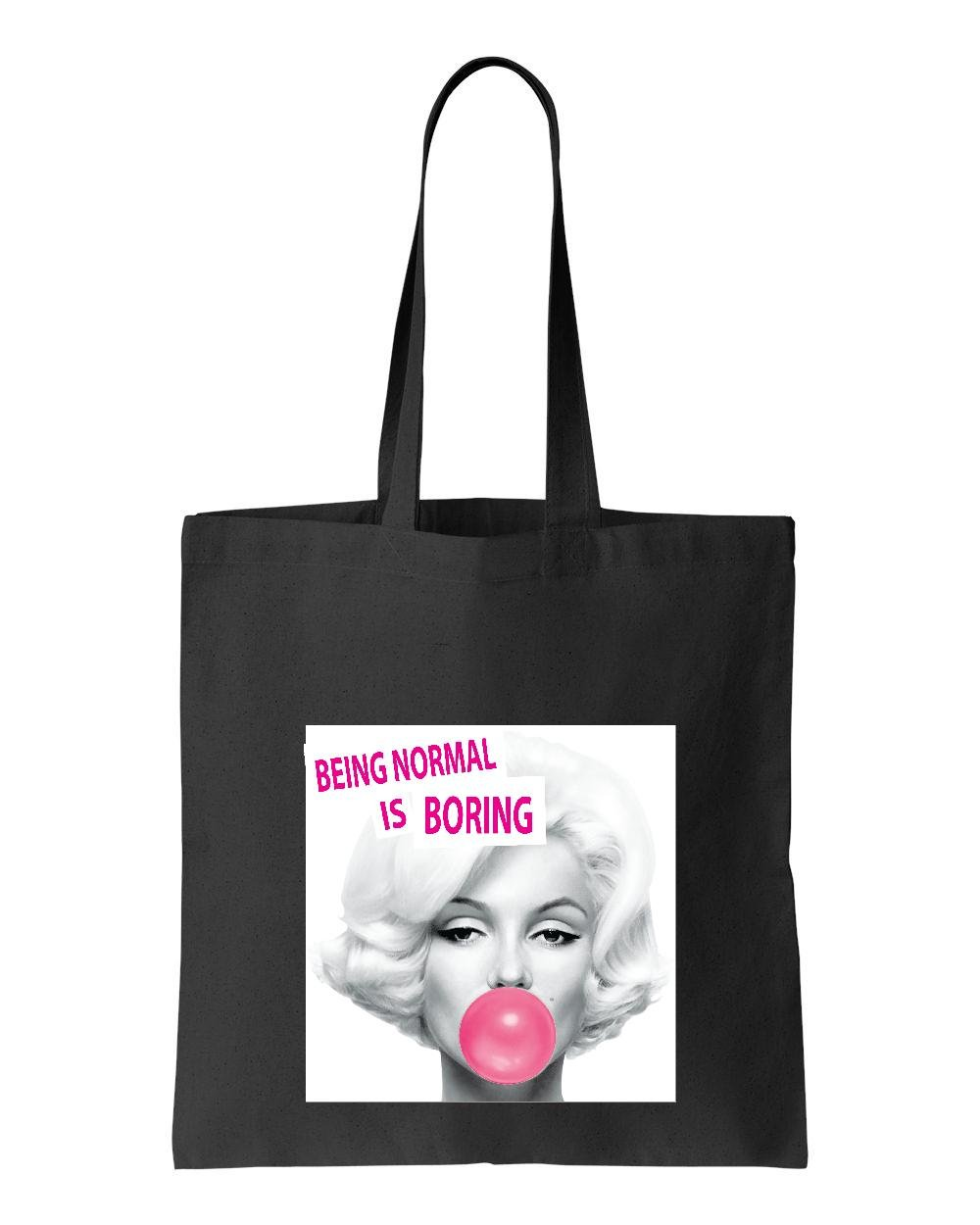 Ugo Marilyn Monroe Being Normal is Boring Gift for Monroe Quotes Lovers Match w Poster Tote Handbags Bags Work School Travel
